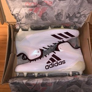 New ADIDAS Adizero 5-Star 6.0 Mid FB Cleats 12 US!